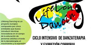 Fotografia del cartel del taller de danzaterapia